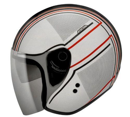 Capacete-Bieffe-Allegro-Smart-Branco-Vermelho-com-Viseira-Solar