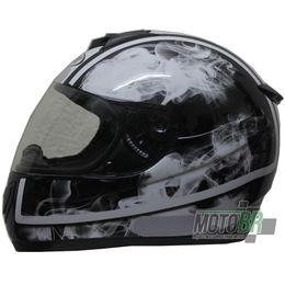 Capacete-V-21-Helmets-Preto-Faixa-Branca-Detalhe-Fumaca