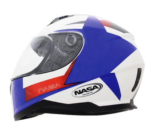 Capacete-Nasa-SH-881-Star-fall-Azul-Vermelho-Branco