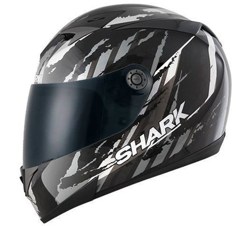 Capacete-Shark-S700-Oxyd-KUA-Preto-Cinza-Branco