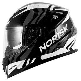 Capacete-Norisk-FF302-Jungle-Preto-Branco-Cinza