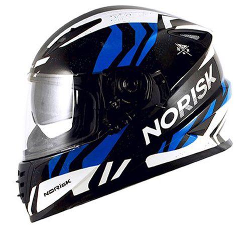 Capacete-Norisk-FF302-Jungle-Preto-Branco-Azul