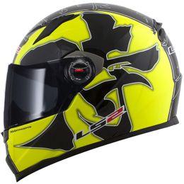 capacete-ls2-ff358-warrior-preto-amarelo-brilho