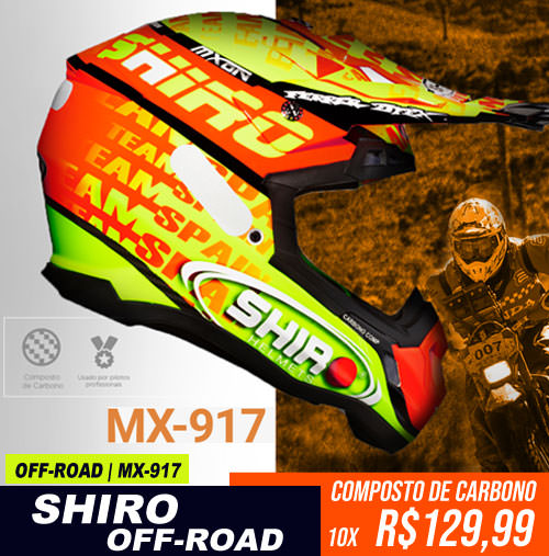 Capacete Shiro MX-917 OFF-ROAD