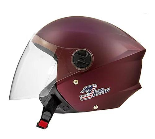 Capacete-Tork-New-Liberty-3-Elite-Vinho-Fosco