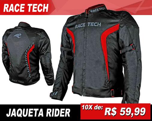 Jaqueta Race Tech Rider Preto Vermelho