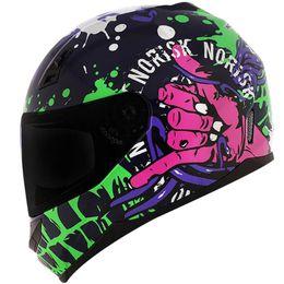 Capacete-Norisk-FF391-Zombie-Azul-Verde-Pink-1