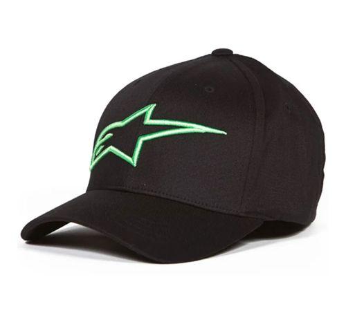 Bone-Alpinestars-Logo-Astar-Asc-Preto-Verde