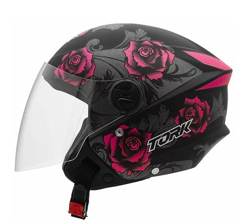 Capacete-Pro-Tork-New-Liberty-3-Flowers-Fosco-Pink-Preto-1