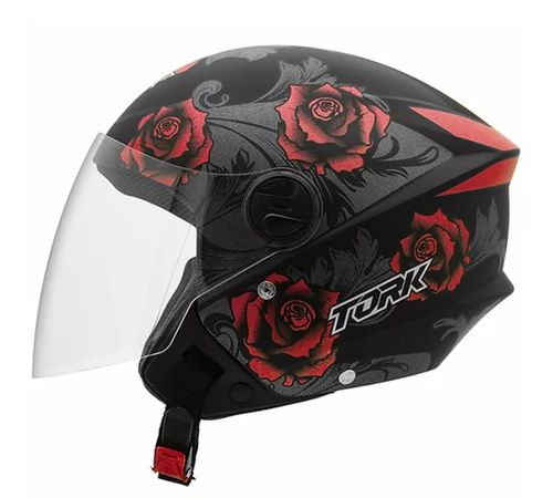 Capacete-Pro-Tork-New-Liberty-3-Flowers-Fosco-Vermelho-Preto-1