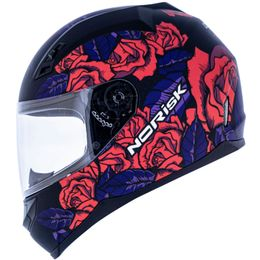 Capacete-Norisk-FF391-Bed-Of-Roses-Fosco-Preto-Pink-4