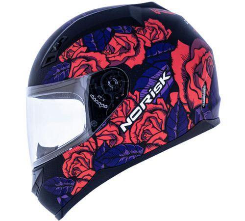Capacete-Norisk-FF391-Bed-Of-Roses-Fosco-Preto-Pink-4